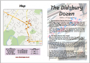 The Didsbury Dozen - a full colour route guide with map and directions