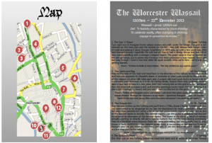 The Worcester Wassail - Worcester Pub Crawl Route Guide with Map